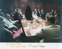 Edward Teller at White House briefing (llnl photos) Tags: starwars ronaldreagan teller nuclearbomb manhattanproject llnl manhattenproject hydrogenbomb edwardteller lawrencelivermore