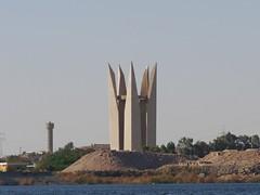 The Monument of Arab-Soviet Friendship (Lotus Flower), Aswan (MikeTnT) Tags: egypt aswan lakenasser