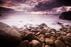 Porth Nanven ([[BIOSPHERE]]) Tags: sunset sea beach rocks landcape cotvalley porthnanven