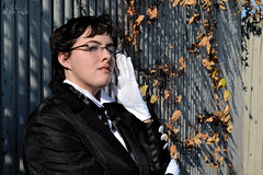 Claude Faustus 4 (Lux of the Night) Tags: black anime night photography cosplay butler syracuse claude lux 2012 faustus cosplaying kuroshitsuji