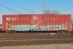 SUME x LEAF x KAMIT (stateofoppression) Tags: minnesota cn train bench graffiti leaf minneapolis trains tags sume boxcar piece mn hopper railfan freight rollingstock foamer tbv grainer benching kamit freightporn fuckinstagram