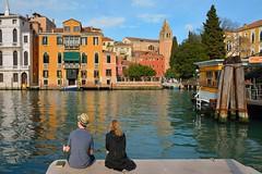 Venice - Accademia / Sitting  Campo della Carit   ( Accademia )  :  Being there (Pantchoa) Tags: venice italy church canal nikon italia cypress nikkor venise venecia venezia grandcanal accademia sanvidal d7100 1685f3556gedvr campodellacarit