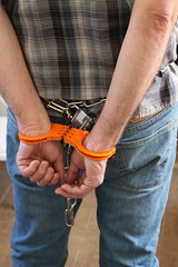 IMG_7811 (bob.laly) Tags: uniform chain jail shackles padlock handcuffs prisoner jumpsuit inmate