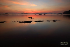 Linger (engrjpleo) Tags: travel sunset sea sun seascape beach water landscape coast outdoor philippines shore elnido palawan waterscape bacuitbay corongcorongbeach