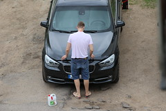 Love (Mindo_) Tags: love bmw guy perspective car black white hands testosteron