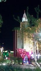 """ Evening by New York - New York "" (ColFineArtistMar1) Tags: city trees sculpture art architecture night buildings lasvegas photograph strip publicart newyorknewyork"