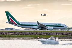 Airport Life - Boston (tkolos) Tags: boston boat flying airport aviation airline airbus cape airlines bos a330 cessna alitalia capeair bostonlogan avgeek kbos
