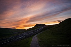 Solstice Sunset (jasonmgabriel) Tags: sunset stone wall clouds path yorkshire hill dry solstice dales malham