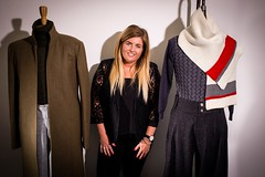 Lara Cresswell with her finished pieces (National Army Museum) Tags: fashion garments universityofderby mentorship 4998 markeatonstreet