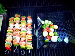 Grilling up some kabobs (Kayakman) Tags: food grill kabobs