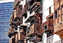 Saudi Arabia Jeddah (gerard eder) Tags: world travel asia middleeast viajes jeddah saudiarabia oldcity reise balkony ancientcity woodenbalkony
