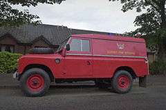 fire stopper (route9autos.co.uk) Tags: street red classic car fire scotland glasgow engine rover dorset land series southside spotted fireengine landrover cathcart muirend