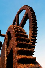 industrial (Kate Alexandra Day) Tags: blue sky orange industrial rusty cogs