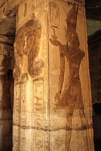"Ägypten 1999 (116) Im Kleinen Tempel von Abu Simbel • <a style=""font-size:0.8em;"" href=""http://www.flickr.com/photos/69570948@N04/27416150616/"" target=""_blank"">View on Flickr</a>"