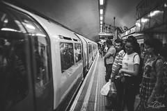 Mind the yellow line. (Jordi Corbilla Photography) Tags: city people london train 35mm underground nikon d750 f18 jordicorbilla jordicorbillaphotography