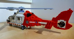 HEMS 1 Air Ambulance (Back) (LonnieCadet) Tags: rescue brick modern 1 model lego air police australia melbourne victoria ambulance collection helicopter vehicles custom emergency dauphin heli hems eurocopter moc essendon 2016