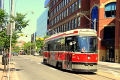 King Street East (wyliepoon) Tags: york light toronto trolley ttc tram rail historic transit streetcar oldtown lrt downtowntoronto kingstreeteast designdistrict clrv