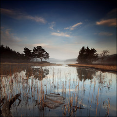Misty Morning Loch Kennard (angus clyne) Tags: light mist forest dawn for scotland smog perthshire calm loch haar harr kennard saariysqualitypictures mygearandme