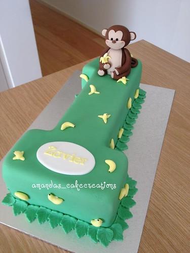 Awesome Monkey 1St Birthday Cake A Photo On Flickriver Personalised Birthday Cards Petedlily Jamesorg