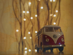 307/365 (and the bird took flight...) Tags: world travel travelling car vw photoshop toy lumix lights is pretty day bokeh map year overlay layers 365 g3 ours 307 yearly project365 365project 307365 camervan