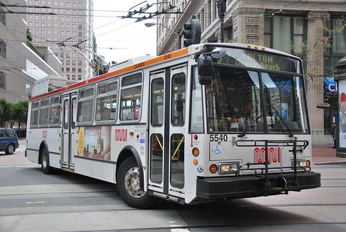 Muni Trolleys San Francisco San Francisco Muni 5540