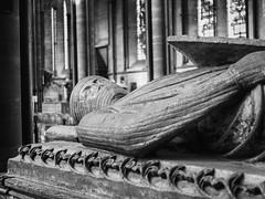 Salisbury Cathedral #12 (dibytes) Tags: england blackandwhite cathedral unitedkingdom tomb monochromatic april salisbury nik williamlongespee 3652012 silverefexpro2