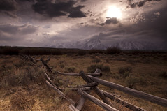Open Range_DSC0711 (antelope reflection) Tags: clouds nationalpark tetons woodfence nikond90