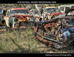 Old School (Stephen Kinna Photography) Tags: new old mountains cars abandoned car wales neglect yard lost photo junk rust snowy decay south engine rusty abandon rusted nsw commodore newsouthwales hudson junkyard grille wreck wrecked hdr decayed decaying flynn snowymountains wrecking wreckers cooma flynns wreckingyard hudsoncommodore photoengine oloneo