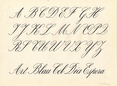 Anglesa_02_Francs (xelo garrigs) Tags: letters calligraphy copperplate caligrafa inglesa alfabet calligrafia
