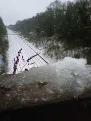 Frozen Railway. (Archie Hamilton) Tags: mobile phone blackberry twomegapixel blackberrycurve
