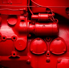 Red engine (wasteland) (sandroraffini) Tags: red urban industrial details bologna minimalism flickrduel blinkagain