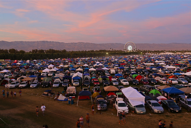 T60C4915 Sun Setting on the Camp Grounds at Coachella 2012, Thursday - Weekend 2