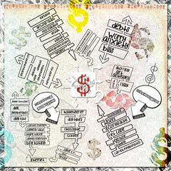 money money money (sbpoet) Tags: money art collage digital digitalart journal mindmap artjournal digi artjournaling tangiebaxter artjournalcaravan
