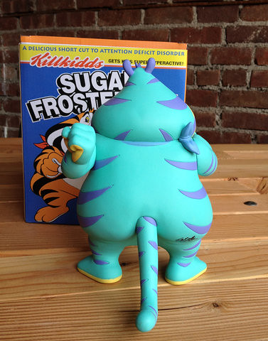 設計師Ron English - Fat Tony天空藍領金的粉藍胖東尼虎