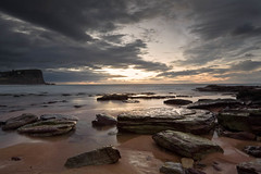 The Awakening (James.Breeze) Tags: ocean seascape beach water sunrise landscape sand rocks raw waves seascapes cloudy sydney australia nsw breeze reef avalon saltwater northernbeaches beachsunrise canonef1740mmf4l bestofaustralia jamesbreeze