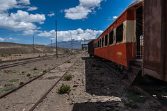 Peru. Abandoned Train Station (from Arequipa to Chivay; Salinas and Aguada Blanca National Reservation) (World-wide-gifts.com) Tags: travel peru train coach andes arequipa chivay abandonedtrain abandonedstation flickraward disusedtrain flickraward5 salinasandaguadablancanationalreservation