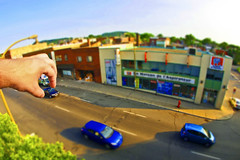Playing God (croquembouche76) Tags: tiltshift samyang fisheye toys cars olympus e5 tilt shift maisondelaspirateur montral montreal jouets miniature miniatures scale illusion optique 8mm f35 olympuse5 road voitures street rue building city ville fun funny drole drle effect perspective playing god qubec quebec canada flou blur blurred gaussian gaussien blurry jouet effet