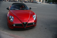 8C Competizione Spider (AP l Photography) Tags: city shadow red sport by speed photography design spider amazing italian italia russia moscow c sony under 8 alfa romeo alpha alfaromeo supercar 2012 pininfarina 8c    2875 competizione hypercar sonyalpha worldcars  sonya850 mygearandme