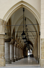 Lights (Photography by Peter Stanford) Tags: life building brick church architecture lights hall still arch floor market poland polska krakow polish arches professional marble cloth cracow kracow baroch