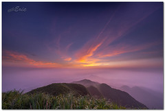 ((eric)) Tags: sky mountains clouds sunrise nikon taiwan    d800   blackcard juifang    142428g fifthofthemountain