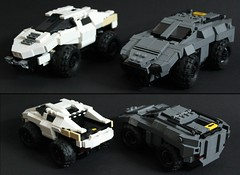 LRV vs ARV 1 (Andreas) Tags: car lego military eu darkwater lrv arv thepurge legoarmoredcar thepurgevehicles