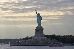 Picture Taken From The Staten Island Ferry Of The Statue Of Liberty Near Sunset. Photo taken Saturday July 21, 2012 (ses7) Tags: ferry liberty island staten of viewstatue