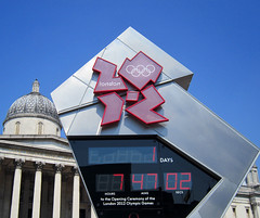 1 Day, 7 hours, 47 mins, 02 secs - but who's counting :) (surreyblonde) Tags: uk england london clock omega trafalgarsquare nationalgallery olympics countdown timer 2012