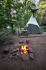 Tipi Living (weirdoldhattie) Tags: camping holiday fire tent campsite tipi