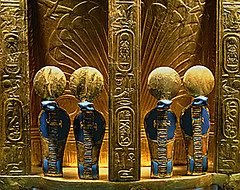Reverse Side of Tutankhamun's Throne. (GoShows) Tags: sculpture gold cobra reptile religion egypt egyptian cult pharaoh ritual throne lapis cobrasnake lazuli lapislazuli preciousstone goldwork snakecobra periodegyptian artformsculpture artformgoldwork furniturethrone 2nd1stmillbce egyptnewkingdom newkingdomegypt egyptpharaoh cultegyptian religionegyptian serpenturaeus snakeuraeus animalcobra uraeussnakecobra