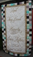 Happily Ever After Wedding Signature Quilt (DanaK~WaterPenny) Tags: wedding sign book quilt signature disney after guest ever happily