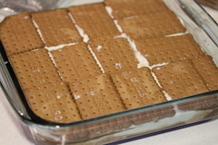 3 capa de galletas (De rechupete) Tags: postre chocolate cumpleaos nata galletas vainilla tartadechocolate tartadegalletas