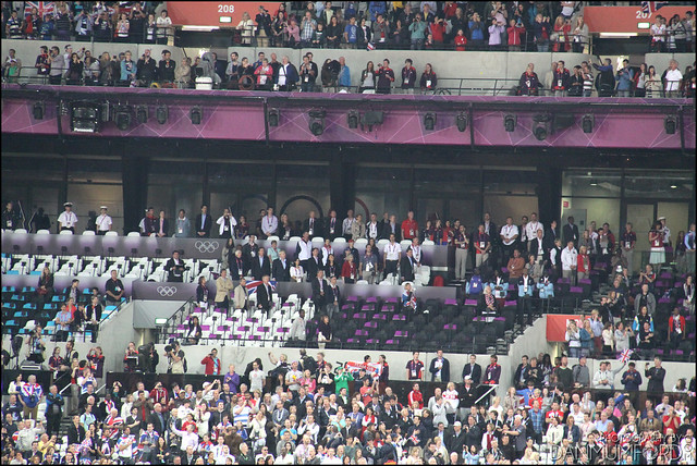 Kate Middleton, Prince William, Princess Anne, Zara Phillips, David Cameron, Boris Johnson, Seb Coe, Ed Miliband and other VIP's