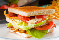 club sandwich (WERLISA.es) Tags: italy food white green chicken yellow cheese breakfast club dinner tomato french bread lunch cuisine bacon salad big potatoes healthy dish cut toast fast tasty plate ham vegetable sandwich fresh chips dressing meat gourmet lettuce fries slice snack meal eggs layer veggies dine grilled fried crunchy roasted tasteful toasted