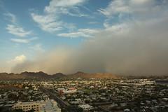 Haboob eats mountain (adamsfuller) Tags: arizona phoenix duststorm haboob